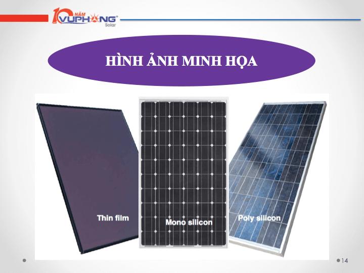 Các thương hiệu pin năng lượng mặt trời