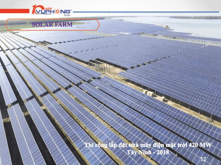 Dự án thi công lắp đặt nhà máy điện mặt trời 420 MW Tây Ninh -2018