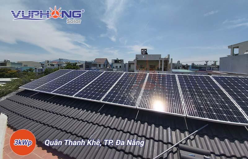 giá điện mặt trời hoà lưới 3kwp