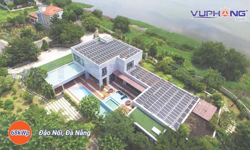 điện mặt trời hoà lưới 68kwp tại Đà Nẵng