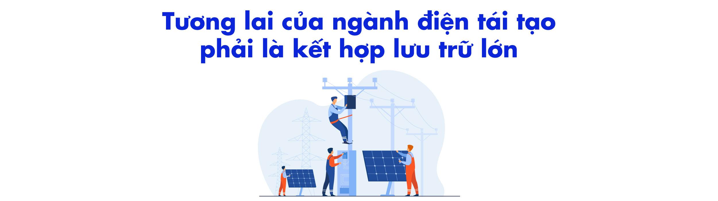 tương lai của ngành điện tái tạo phải là kết hợp lưu trữ lớn